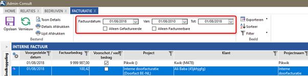 interne factuur FAQ: Hoe werkt het systeem van interne doorfacturatie? (Admin