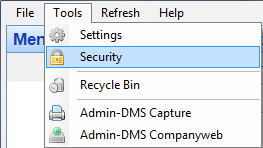 Admin-DMS security